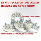 4pc Hub Centric Wheel Adapters Spacers 5x110 to 5x100 12X15  32mm 125 Inch