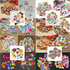 50Pcs Mixed Animal Flower 2 Holes Wooden Buttons Sewing Craft Scrapbooking DIY