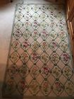 Antique Hand Hooked Wool Floral Rug 64