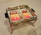 (2) Anchor Hocking Fire King Loaf Dish (1 QT) + 1 Solid Metal Gold Chafing rack