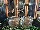 Vintage Gold leaf coasters with carrying rack 8 coasters Rare