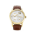 A. Lange & Söhne Mens Lange 1 Watch Brown Crocodile Leather 18K Yellow Gold NEW