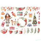 Elksnowmansanta Claus Christmas Uncut Stickers Diy Planner Diary Album Decor