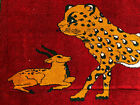 ANTIQUE PERSIAN RUG HUNTING RUGS PICTORIAL CAT vintage oriental IRAN 3x5 4x5 4x6