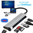 USB-C 3.1 Hub Type C Adapter to 4K HDMI PD USB 3.0 SD/TF Card Reader For Mac PC