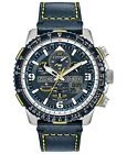 Citizen Men's Promaster Blue Angels Skyhawk A-T Leather Strap Watch JY8078-01L