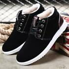 Mens Sneakers Winter Thicken Shoes Lace Up Casual Fur Lined Snow Boots Warm V024