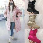 Retro Women Front Zip Leather Platform Ankle Boots Sneakers High top Skate Shoes