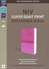 NIV Super Giant Print Reference Bible Imitation Leather Pink BRAND NEW