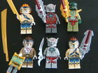 6 LEGO MINI-FIGURES , CHIMA ASSORTED FIGURES WITH WEAPONS , AUTHENTIC LEGO'S