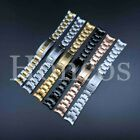 20 MM Submariner Watch Band Bracelet Shiny Satin Silver Oyster Fits For Rolex