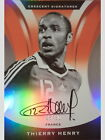 THIERRY HENRY 2017 PANINI NOBILITY SOCCER CRESCENT SIGNATURES AUTO ORANGE (# 30)