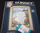 New Lighthouse Cross Stitch Kit Beach On This Day Sunset size 10 x 15  M
