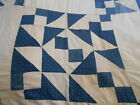 Vintage Antique Jacobs Ladder Quilt Top Hand Stitched Cotton 77