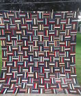 Antique Hand-Made QUILT TOP - LOG CABIN 86