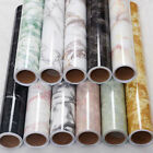 Marble Effect Contact Paper Film Wall Covering Home Wall Decor Self Adhesive CA