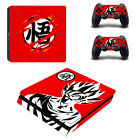 Dragon Ball Skin Sticker Controller Suface For Palystation 4 PS4 Slim Console