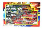 Metro Police Force  Fire Rescue Emergency Crew 44 Piece Mini Toy Diecast Vehicl