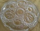 VTG HOFBAUER BYRDES BIRDS Clear Leaded Crystal Glass Cake Plate Made in GERMANY