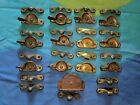 Vintage Hardware Sash Locks and Keepers and pulley lot