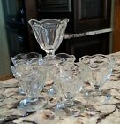Lot of 6 Vintage Anchor Hocking Tulip Sundae Ice Cream Clear Footed Dessert Dish