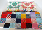VINTAGE QUILT TOP Pieces 72 x 34 Squares 84 x 24 Folk Art Patchwork Runners Lot