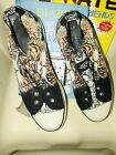 DON ED HARDY CANVAS SLIP ON LACELESS SNEAKERS TIGERS SIZE 6 EUC