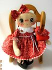 CHRISTMAS Primitive GINGERBREAD RAGGEDY DOLL HANDMADE W  PRIM HEART
