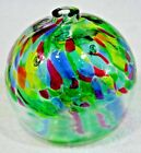 Kitras Hand Made Art Glass Garden Ornament Calico Witch Ball Made in Canada 5