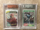 1980 1981 Topps Lot of 2 MIKE SCHMIDT BGS BVG 8 and 8.5