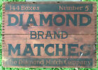 Vintage Number 5 Diamond Brand Matches Dovetailed Wooden Advertising Crate/Case