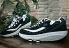 Skechers Shape Ups Womens 85 Sneakers Black White Leather Shoes Athletic 11809