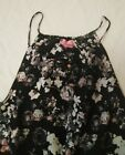 Women's BLACK FLORAL JUMPER, MEDIUM!! By SHES COOL!!