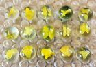 Vintage Cats Eye Marbles - Lot of 15 - Group Y1 - Yellow 4 Vane?