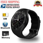 US Round Bluetooth Smart Watch SIM TF Slot Sync Calls for Android iphone Samsung