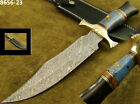"14.1"" Massive Damascus Knife Bowie/Hunting Knife Bull Horn Handle 8656-23(5100)"