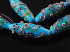 Wholesale Murano Oval Lampwork Glass Necklace Craft Findings Loose Spacer Beads