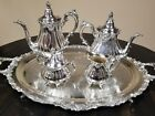 Vintage Wallace Grand Baroque Silver 5 Piece Tea/Coffee Set Excellent Condition
