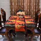 USA Halloween Witch Pumpkin Series Table Placemat Tablecloth Runner Party Decor