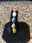 Absolutly Stunning Multi South Sea Pearl Bracrlet & 18k Gold Filled Beads