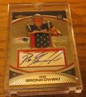 2010 TOPPS FINEST ROB GRONKOWSKI RC AUTO 2 COLOR PATCH 201 350 PATRIOTS
