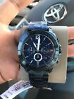 Fossil Privateer Sport Chronograph Watch BQ2319 Men's Ocean Blue Stainless NEW