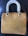 stuart weitzman leather bag for RussellBromley Straw Yellow Croc Leather Iconic