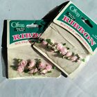 Offray Ribbon Boutique Package sheer pink roses two NEW unopened packages
