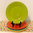 Fiestaware Lunch Plates Lot of 4 Multi Color Summer Brights Fiesta 9 in Luncheon