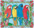 Macaw Parrot Cutting Board Tempered Glass Large 115 x 155