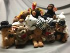 TY BEANIE BABIES: GOBBLES, MYSTIC, MAGIC, BLACKIE, HANSEL, BLIZZARD PUXSUTAWNEY
