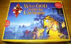 What God wants for Christmas Nativity Set  Book for Kids COMPLETE  EXCELLENT