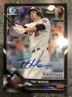 Trey Mancini 2018 Topps National Convention Black 1 1 Auto Bowman Chrome Orioles