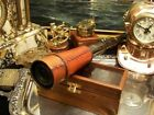 Leather Ship Captain Telescope Spyglass Wood Box Antique Gift 17